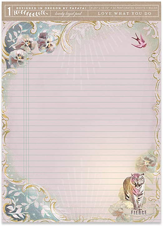 Papaya Womens Art 4x7 50 Lined Pages Little Legal List Pad Tropical