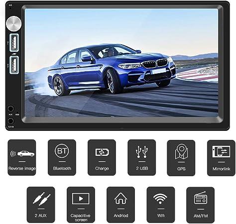 QLPP Radio del Coche Android 8.1 Autoradio 2din MP5 GPS Receptor estéreo 7 Pulgadas 2 DIN Car Audio estéreo Radio MirrorLink WiFi cámara Trasera: Amazon.es: Hogar