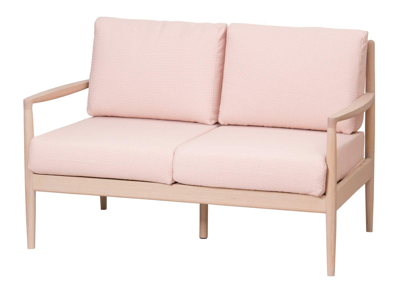 ヒダカグ(Hidakagu) YDピンク 2P オーク材 ピンク色カバー ラトレ ソファ 019-2P YDPK   B07HFRR941