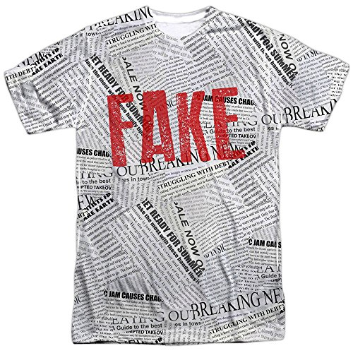 Fake News Halloween Costume Donald Trump T Shirt (XX-Large) -