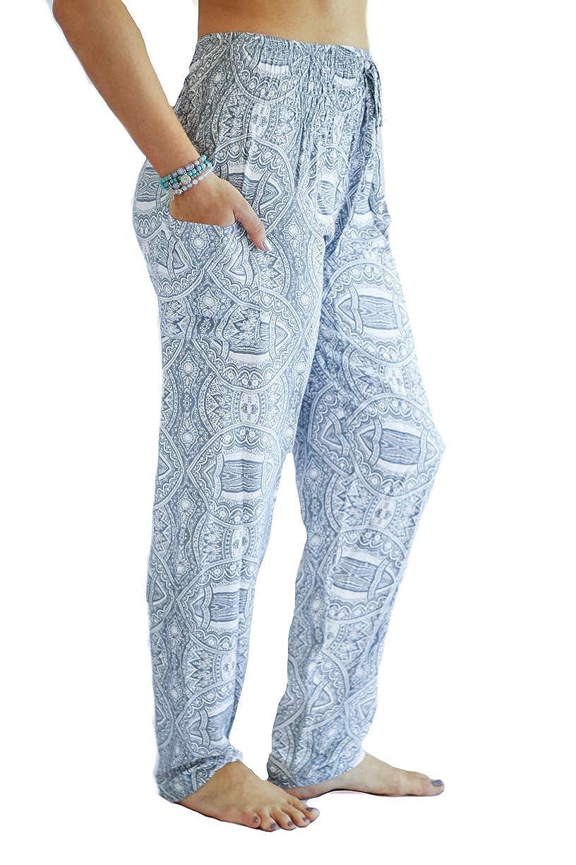 c054c5e443e1d Amazon.com: PI Yoga Pants - Women's Tall Straight Leg, Loose Comfortable  Boho Athleisure Wear (Stretches Size 0-10) - Gray: Clothing