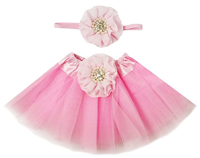 0214757b8 Amazon.com: Wholesale Princess NEWBORN Light Pink Tutu with Matching ...