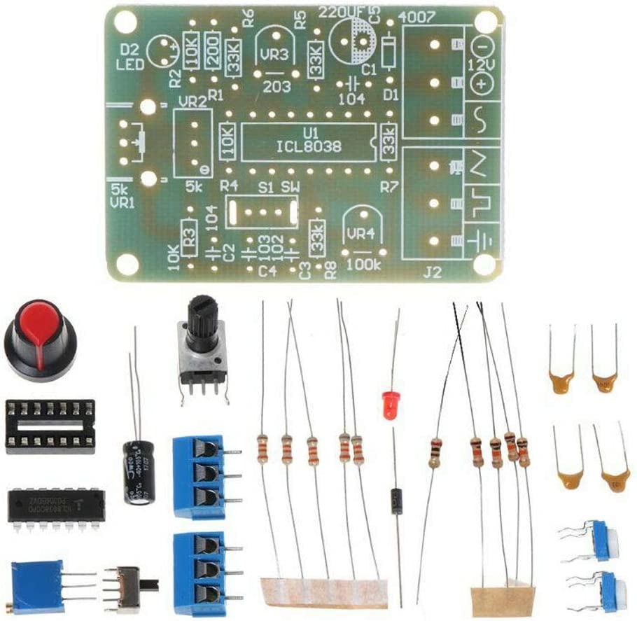Gumps grocery ICL8038 Monolithic Function Signal Generator Module DIY Kit Sine Square Triangle