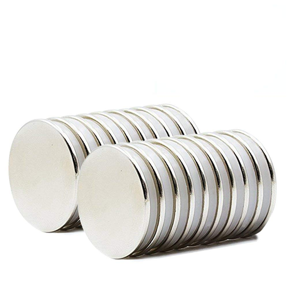 Grtard Powerful Neodymium Disc Magnets Rare Earth Magnets Fridge, DIY, Scientific, Craft, and Office Strong Magnets with Double-Sided Adhesive - 1.26