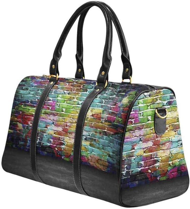Flight Bag Gym Bag Graffiti Brick Wall InterestPrint Large Duffel Bag