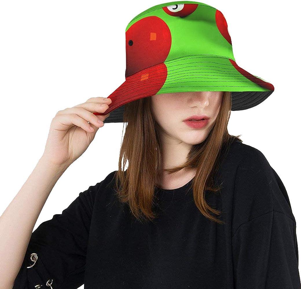 Chica Bucket Hat Billar en la Mesa de Fieltro Rojo Verano Unisex Pesca Sun Top Bucket Sombreros para Adolescentes Mujeres Fisherman Cap Deportes al Aire Libre Hombres Sun Hat: Amazon.es: Ropa y