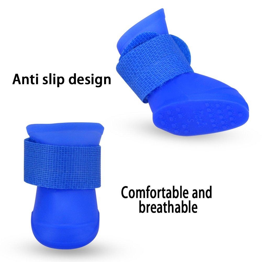 4pcs Wasserdichte Und Anti Rutsch Hundeschuhe Haustier Schuhe