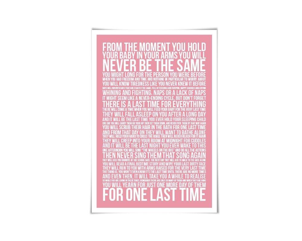 Amazon.com: The Last Time Poem Art Print. 60 Colours/3 Sizes ...
