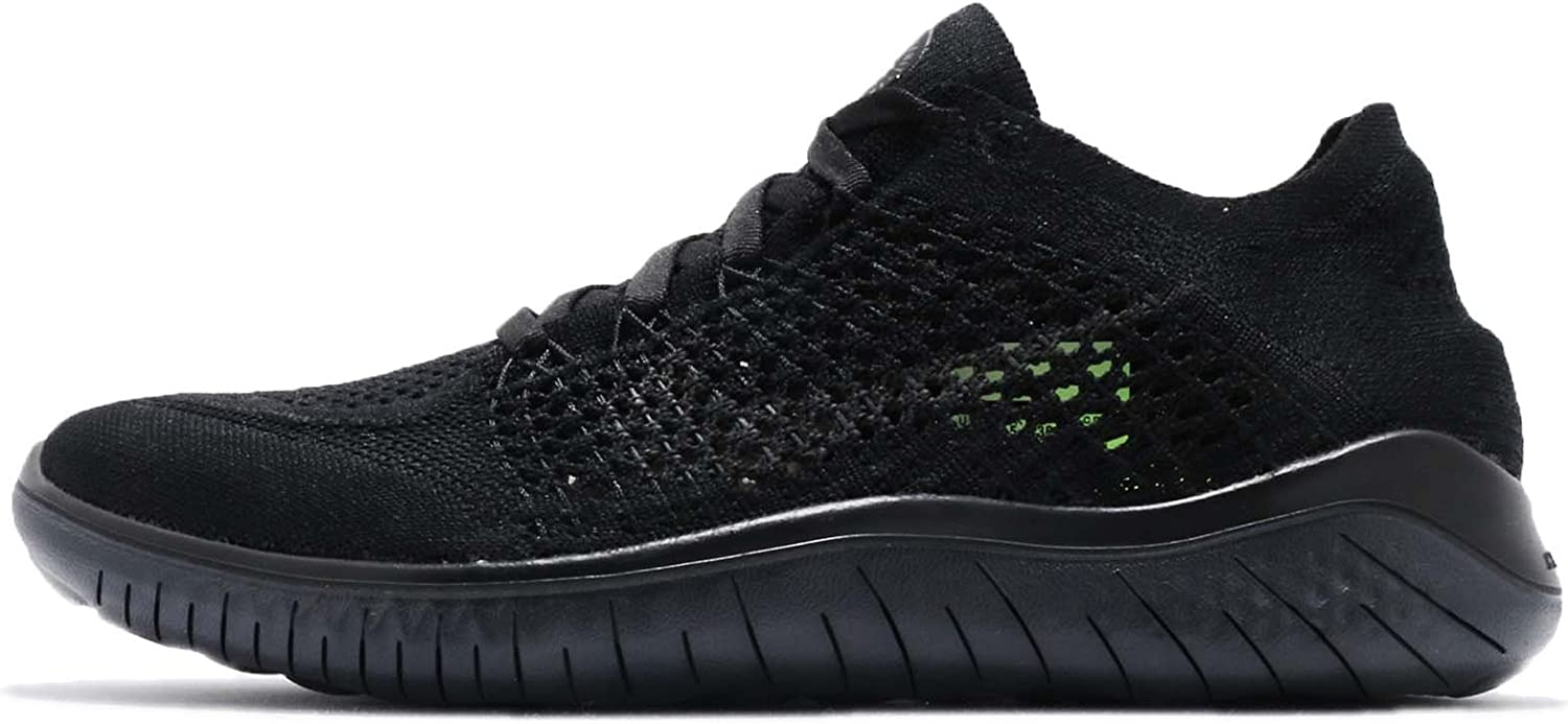 Nike Womens Free RN Flyknit 2018 Running Shoes 8.5 Black Anthracite