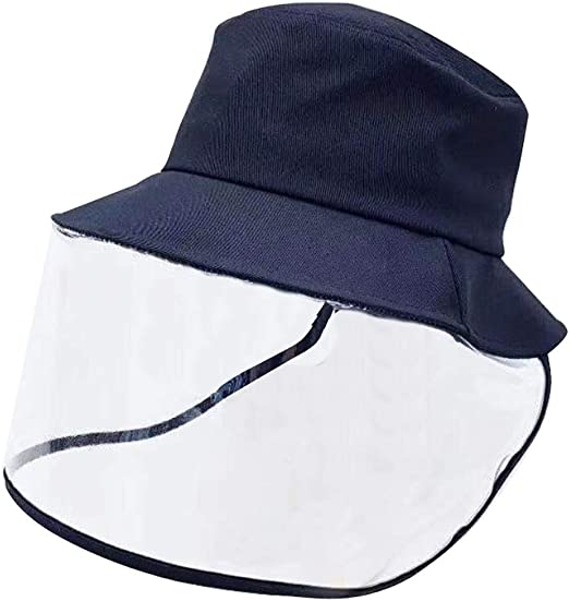 Mask Anti-Spitting Anti-Virus Protective Hat Cover Outdoor Fisherman Hat Adjustable Size