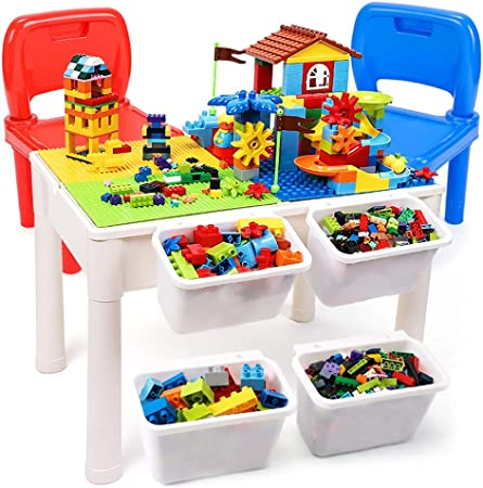 Mesa de Juego Mesa De Madera para Niños Mesa De Juegos Mesa De Estudio Juguetes Educativos Juguetes Ensamblados Regalos para Niños (Color : Color, Size : 60.5 * 41.5 * 43.5cm): Amazon.es: Hogar