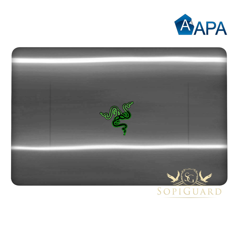 SopiGuard for Razer Blade Stealth 12.5 inch Carbon Fiber Full Body Precision Edge-to-Edge Coverage Easy-to-Apply Vinyl Sticker Skins (APA Chrome Black)