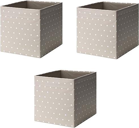 Ikea Drona Box, Color Beige, 3 Unidades: Amazon.es: Hogar