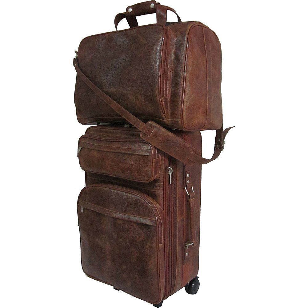 AmeriLeather Leather Two Piece Set Traveler (Waxy Brown)