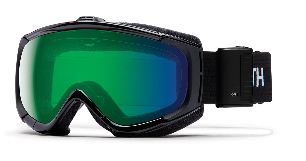 2b16e4d865 Amazon.com   Smith Optics Adult Phenom Turbo Fan Snow Goggles Black Frame  ChromaPop Everyday Green Mirror   Sports   Outdoors