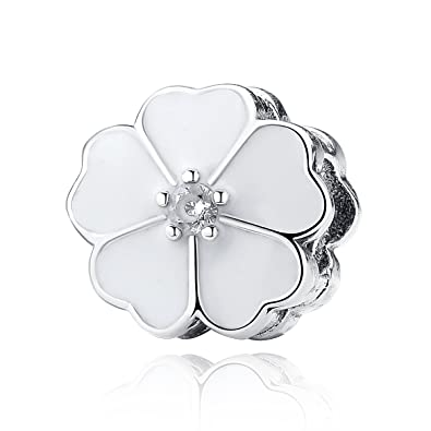 135cacb94 The Kiss Blooming Dahlia Daisy Primrose Flower Clip 925 Sterling Silver  Bead Fits European Charm Bracelet