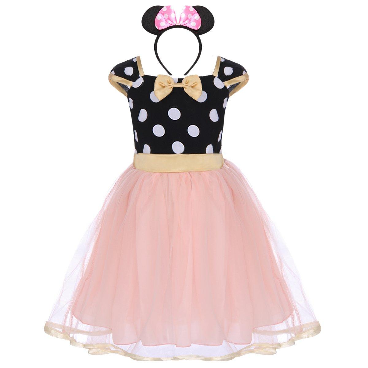 per bambina Polka Dots Tutu Principessa Abiti per Natale Festa Cerimonia Compleanno Comunione Ballerina Prom Cosplay Travestimento Ragazze Vestito Costume per Halloween o carnevale da Minnie