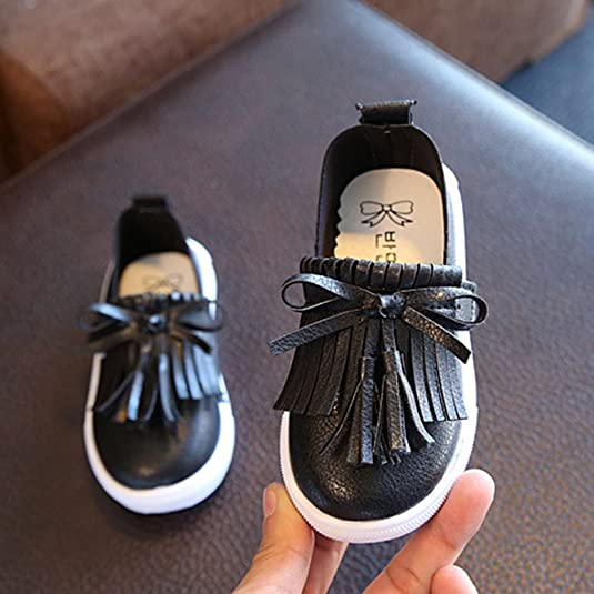Woopower Girls Shoes, Child Tassel Slip On Flat Loafers Casual Party  Outdoor Boat Moccasins Shoes, UK 5.5-9: Amazon.co.uk: Shoes & Bags