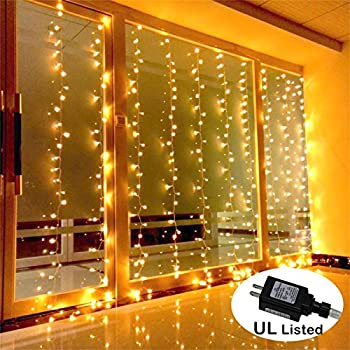 Delightful AMARS Safe Voltage Bedroom String LED Curtain Lights Waterfall Window Lights  Outdoor Indoor LED Lights For