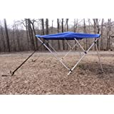 """New Royal Blue Vortex 3 Bow Bimini Top 6' Long, 67-72"""" Wide, 46"""" High, Complete Kit, Frame, Canopy, and Hardware (FAST SHIPPING - 1 TO 4 BUSINESS DAY DELIVERY)"""