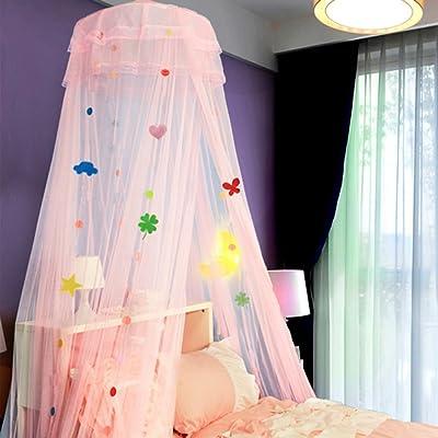 XRXY Creative solide couleur cryptage suspendu moustiquaire au plafond / enfants étudiant lit unique Moustiquaire économe en espace / chambre à coucher sol-lit Mantle (3 couleurs disponibles) ( Couleur :