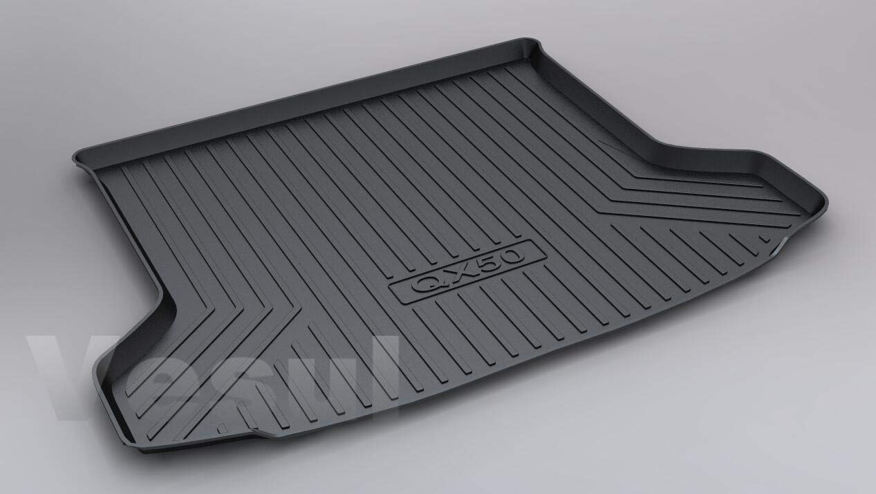 Vesul Rubber Rear Trunk Cover Cargo Liner Trunk Tray Floor Mat Carpet Compatible with Infiniti QX50 2019