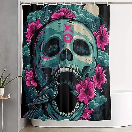 acheter rideau de douche tete de mort online 10