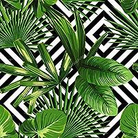 Papel De Parede Floral Com Folhas Tropicais