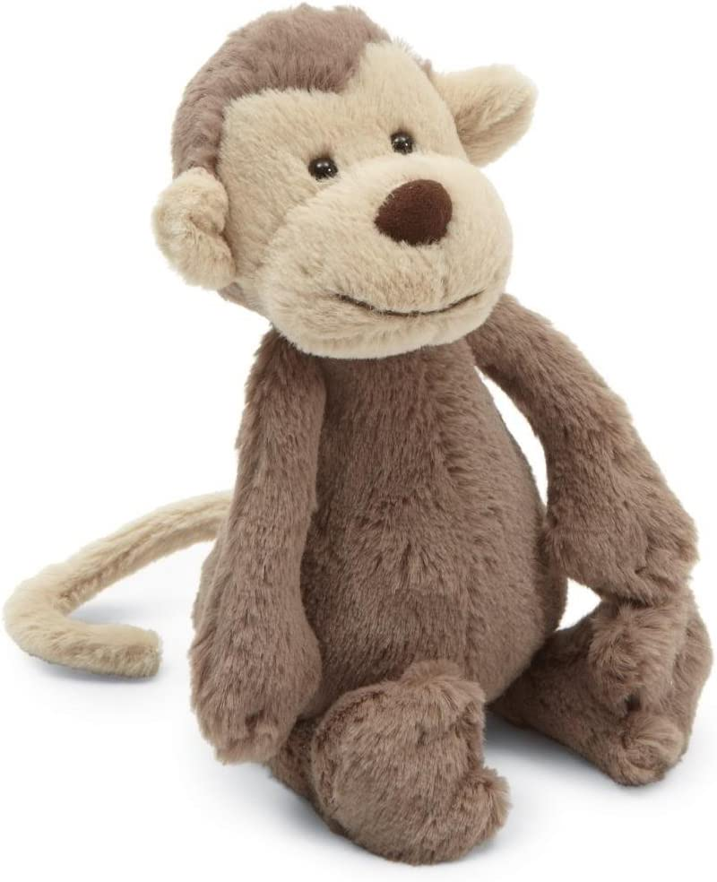Jellycat Bashful Monkey Stuffed Animal Small 7 Inches Stuffed Animals Plush Amazon Canada