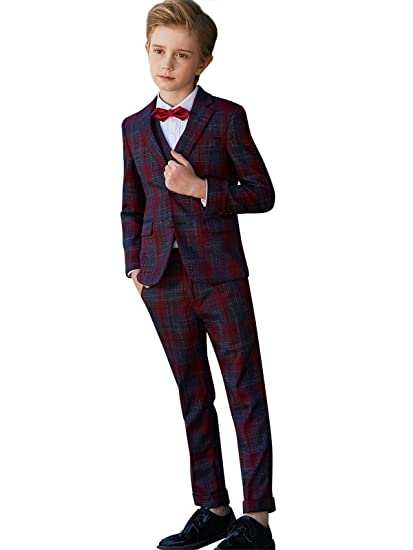 ELPA ELPA Boys Suits for Festive Holiday Dress Suits Slim Fit Fashion Formal Suit Wear