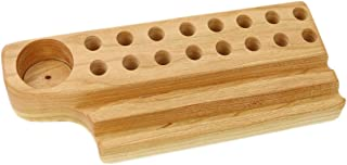 product image for Cherry Wood Crayon Holder, 16 block and 16 stick with Crayon Shapener Holder