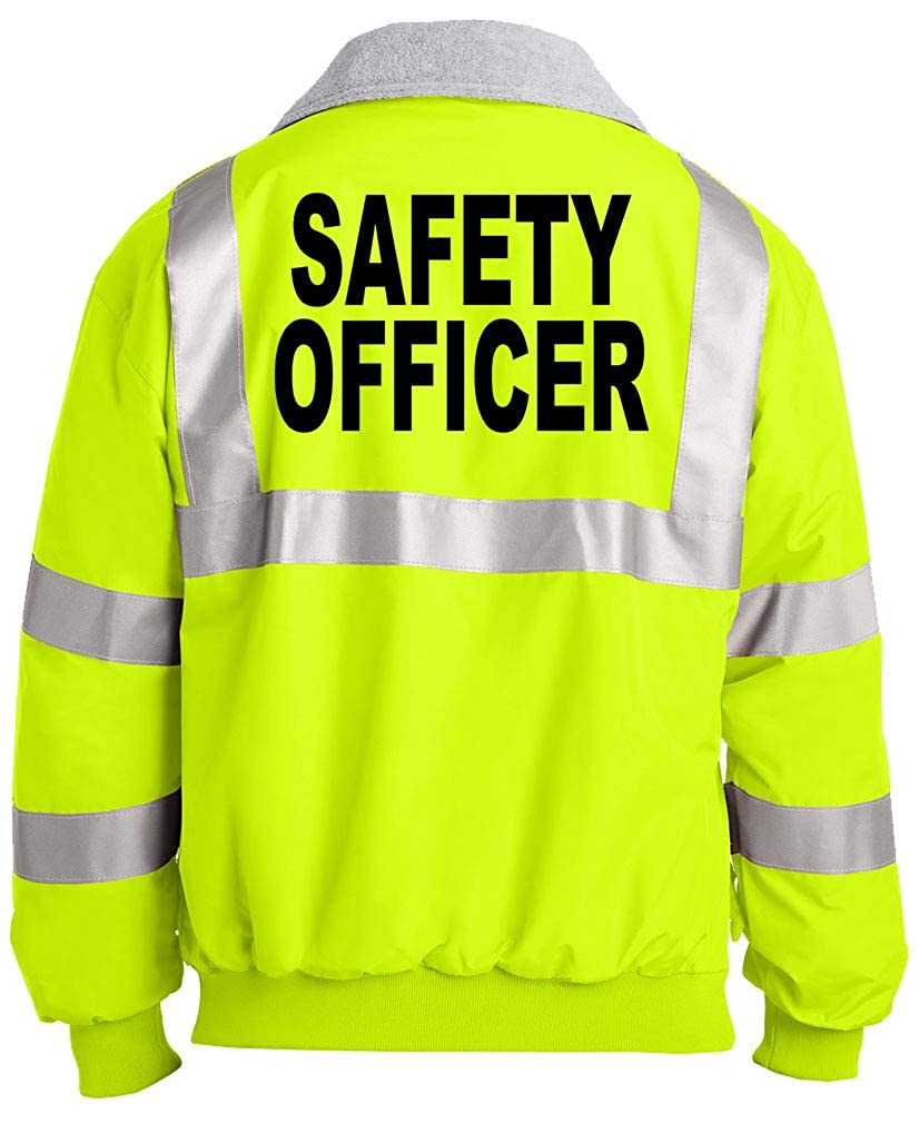 Unisex Hi-Vis Safety Green Jacket high Visibility Shadow Company Safety Officer