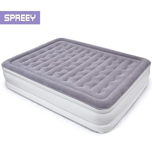 SPREEY - Colchón Hinchable para 2 Personas, colchón neumático con ...