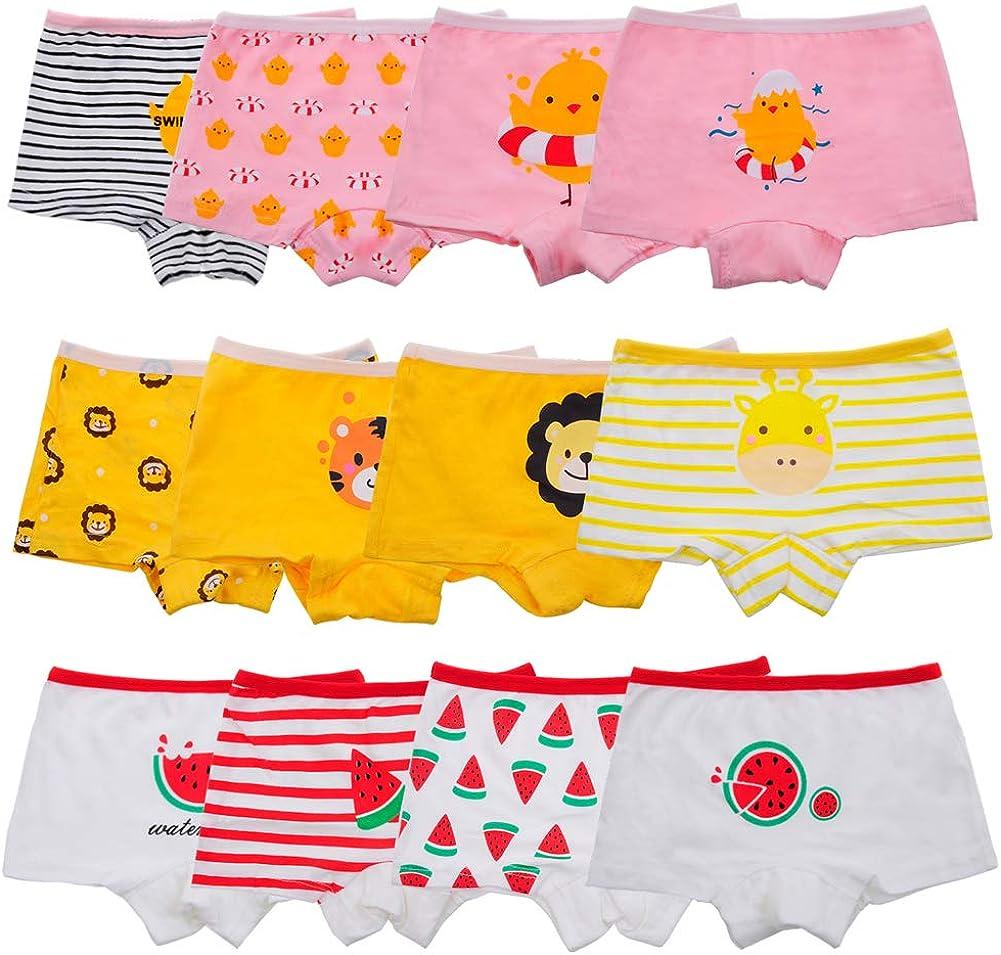 Anntry Baby 12 Pack Panties Soft Comfort Knickers Cotton Underwear Little Girls Assorted Briefs 2-10 Yrs