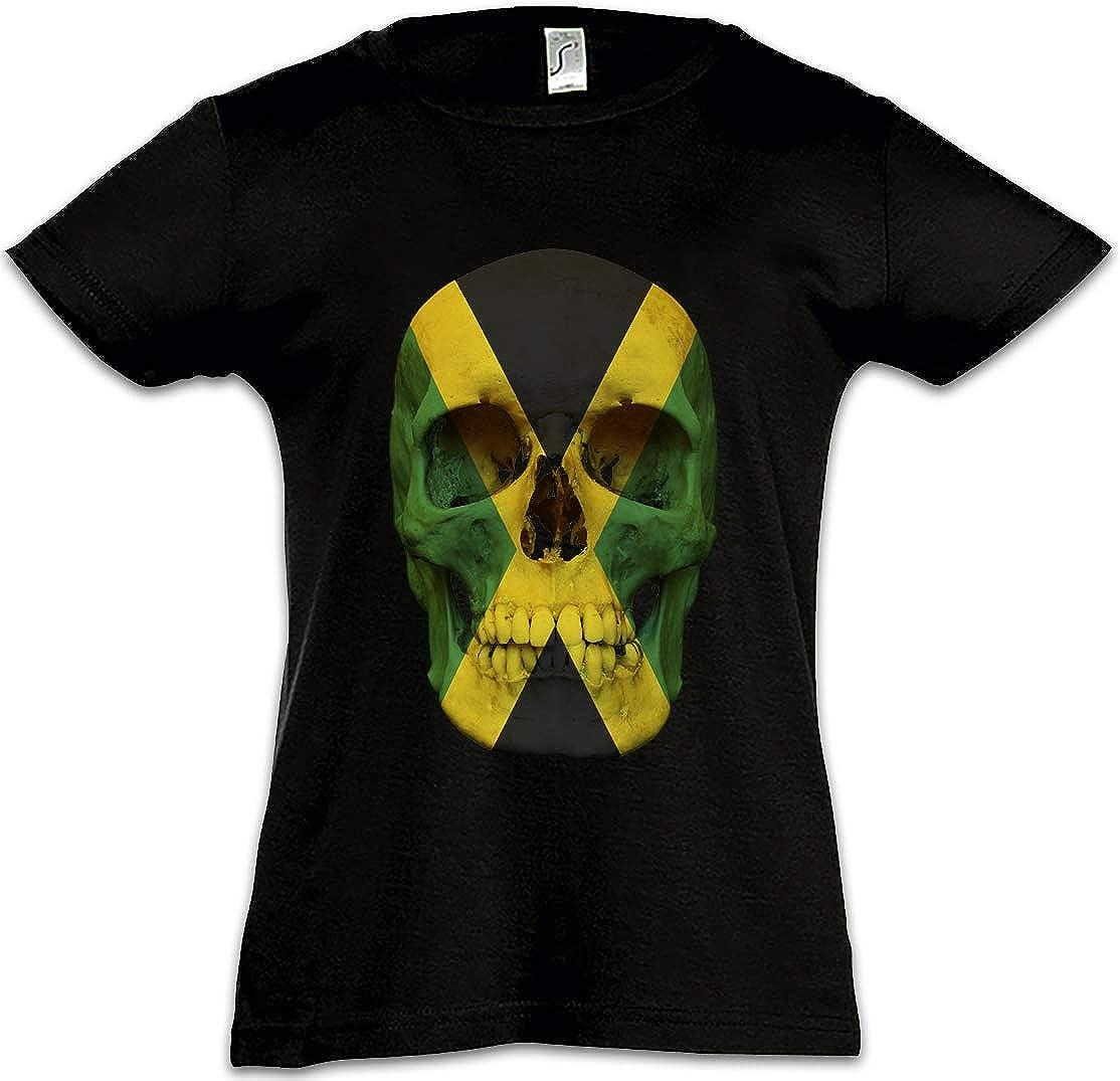 Urban Backwoods Jamaica Jamaican Skull Flag Camiseta para Niñas Chicas niños T-Shirt Totenkopf Jamaika Fahne Rasta Irie: Amazon.es: Ropa y accesorios
