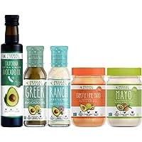 Primal Kitchen - Whole 30 Kit | Mayo, Chipotle Lime Mayo, Extra Virgin Avocado Oil, Greek Vinaigrette and Marinade, Ranch Dressing