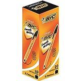ビック 油性ボールペン オレンジ 0.7 黒 20本 E-ORGF20EGBLK