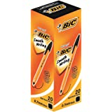 BIC 油性ボールペン オレンジ 0.7 E-ORGF20EGBLK 黒 20本