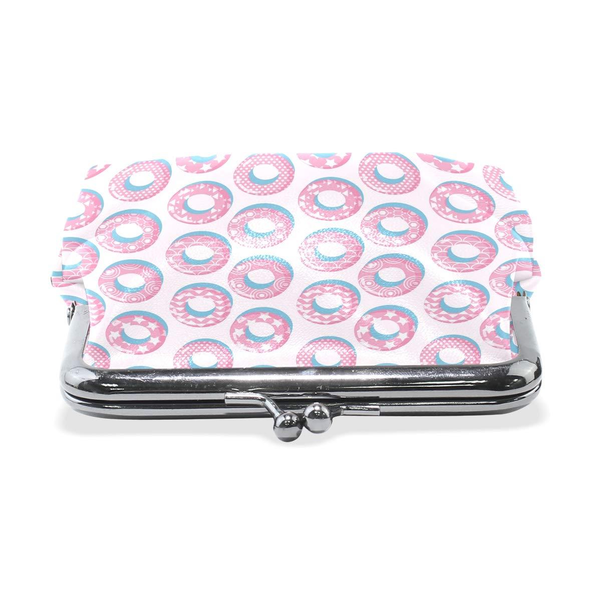 LALATOP Sweet Pink Innertube Womens Coin Pouch Purse wallet Card Holder Clutch Handbag