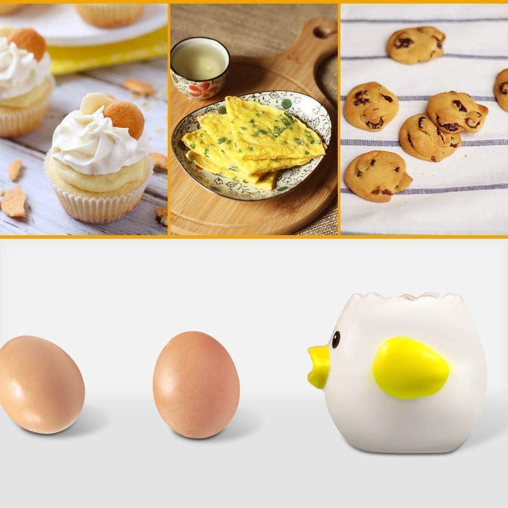 RUOXI Egg Separator,ceramic Egg Yolk White Separator,cartoon Fun Filter Separator Divider Egg Strainer Cup Filter Egg Divider Kitchen Baking Tools