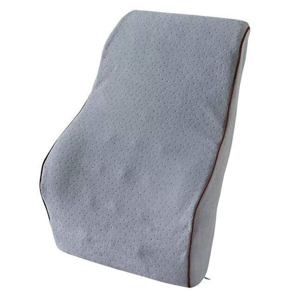 378 5000 Reisekissen Auto Kopfstütze Orthopädisches Rückenkissen Memory Foam Lordosenstützenkissen Perfekt für Zuhause, Büro, Auto, Schmerzlinderung, Rückenschutz und Haltungsverbesserung, Blau