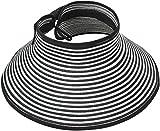 Simplicity Women's Wide Brim Roll-up Straw Hat