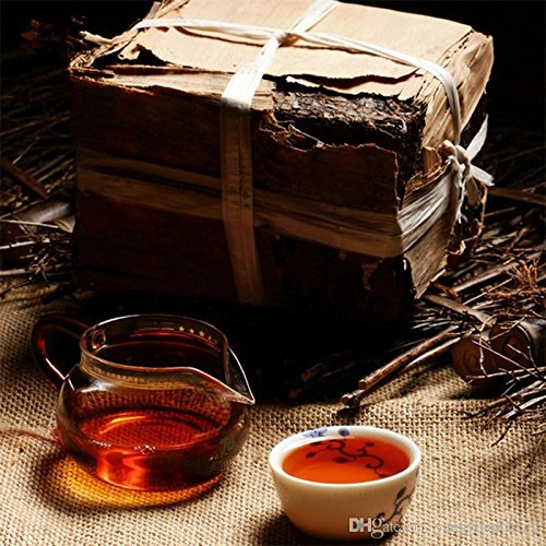 (Made In 1970 Ripe Pu er Tea 250g Oldest Puer Ancestor Antique Honey Sweet Dull-red Puerh Tea Ancient Tree Pu'er Tea Brick)