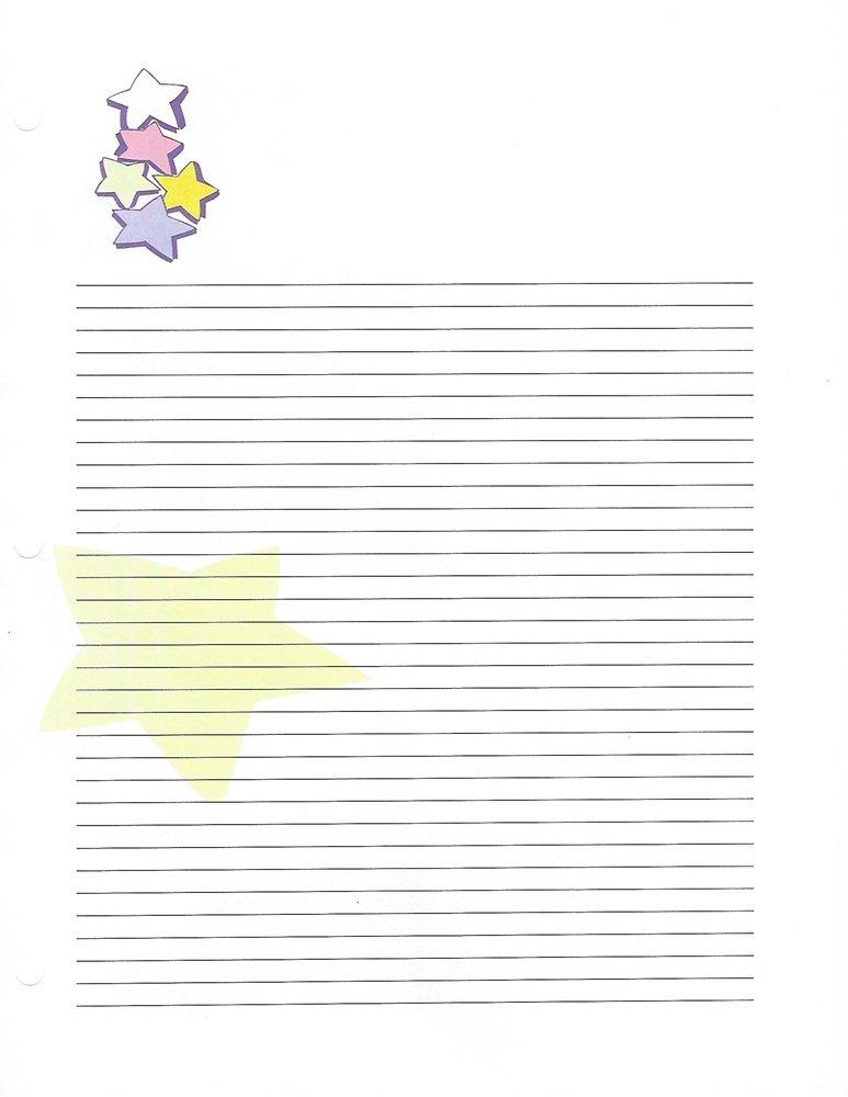 Stars 3 Hole Loose Leaf Paper 50 Sheets