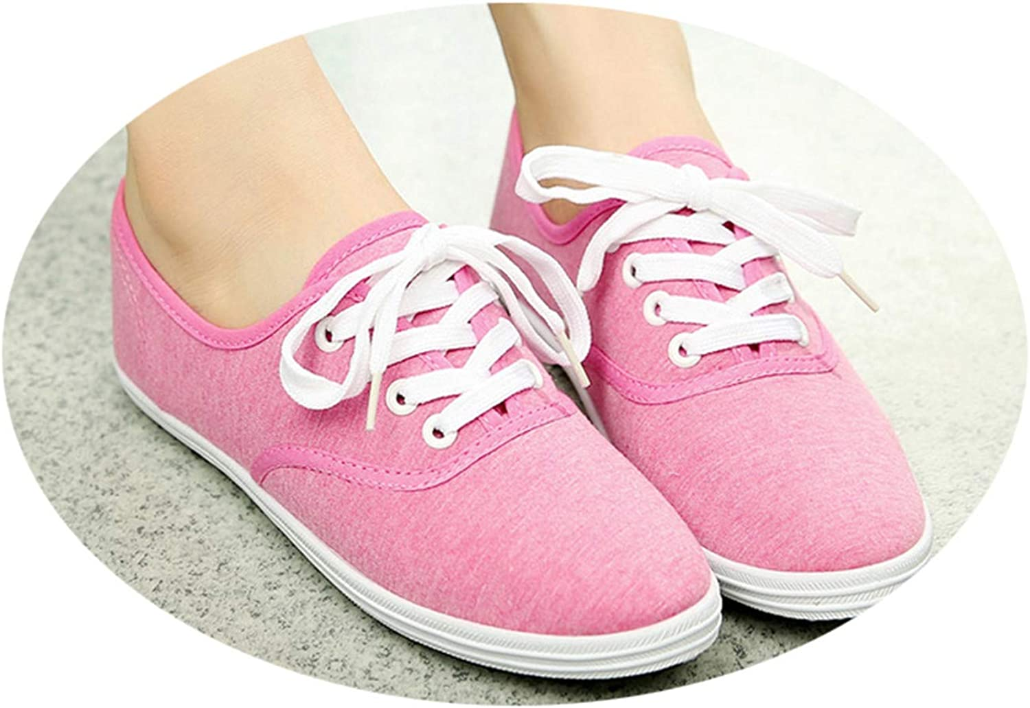 Reputation1 Flat Womens Spring Canvas Shoes Female Korean White Shoes Breathable Literature Student Shoes Female Foreign
