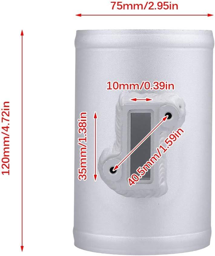 Silber KIMISS Luftstr/ömungssensor Adapter Ansaugmessersockel f/ür MAF 75mm