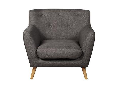 The One Berlin Modern poltrona in tessuto grigio - grigio tessuto ...
