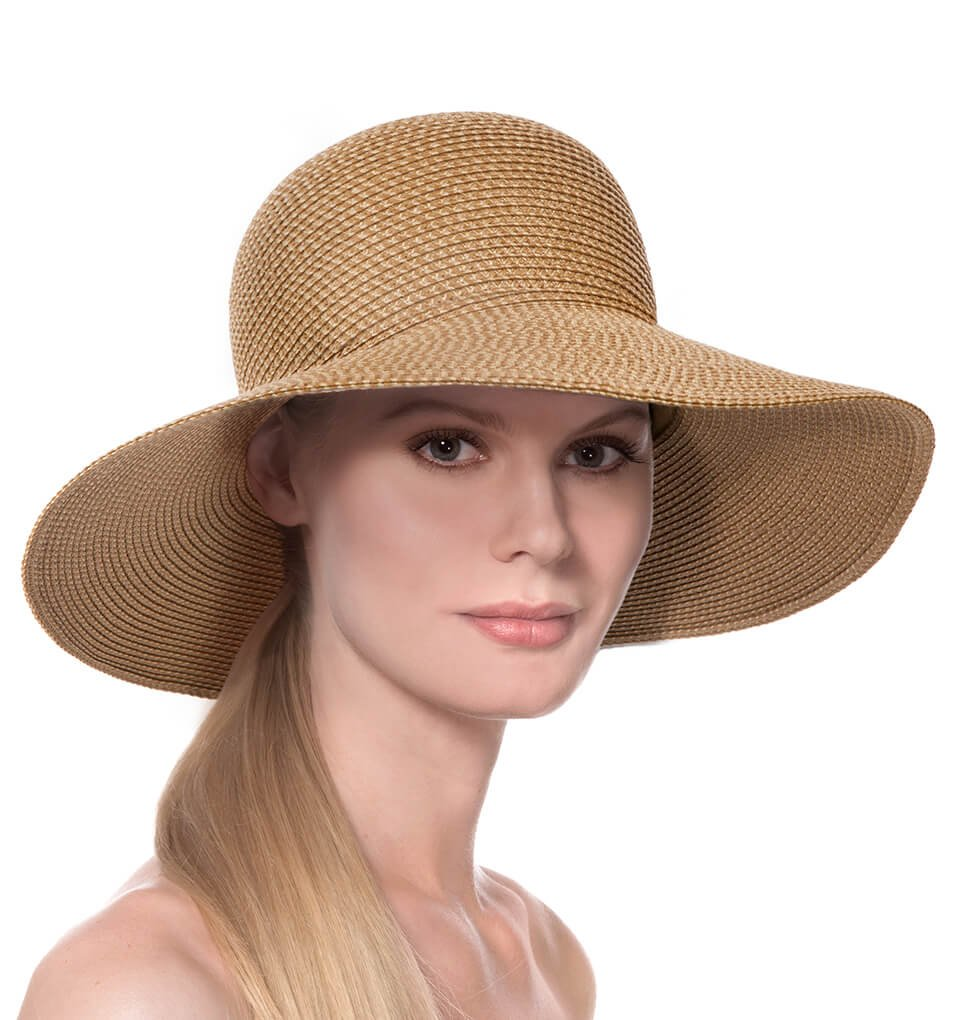Eric Javits Luxury Fashion Designer Women's Headwear Hat - Hampton - Natural
