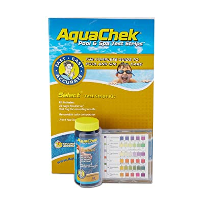AquaChek Select 7-IN-1 Pool and Spa Test Strips Complete Kit : Swimming Pool Testing Strips : Garden & Outdoor