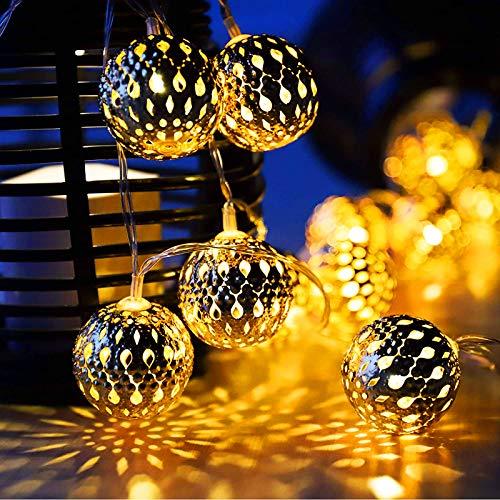 Ascension Pack of 1 5m Metal Ball String Light Serial Bulbs Decoration Lighting Fairy Lights for Diwali Christmas…